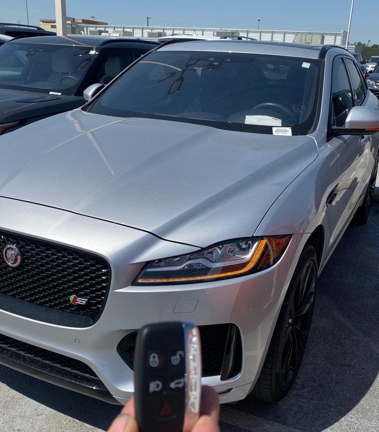 2017 Jaguar F-PACE smart key replacement with VVDI Prog and VVDI2.